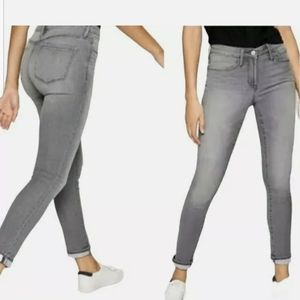 Athleta Sculptek Light Grey Skinny Jeans 6